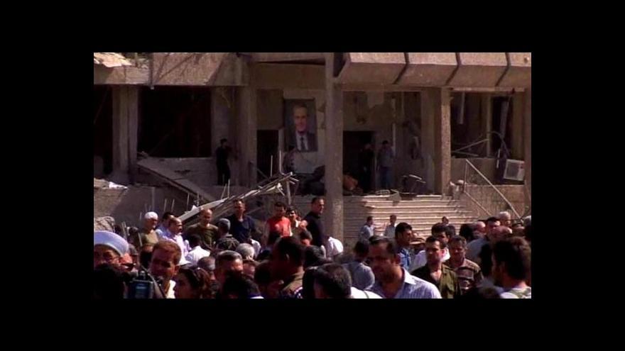 Video Ke dvojici výbuchů se přihlásila skupina Al-Nusra