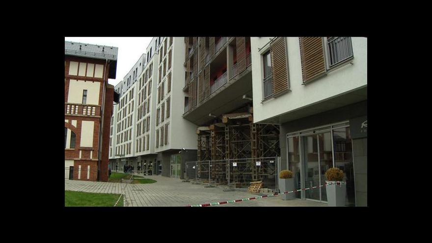 Video Reportáž o evakuaci domu Prague Marina