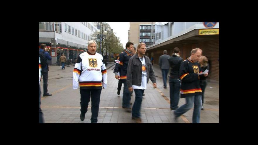 Video Fanoušci před utkáním Švédsko - Německo