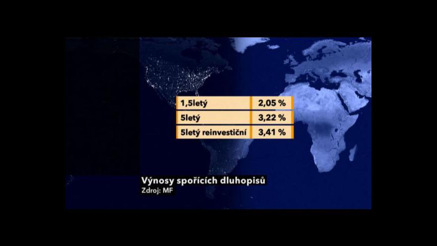 Video Ekonomika ČT24: (Ne)úspěch druhé emise státních dluhopisů pro občany