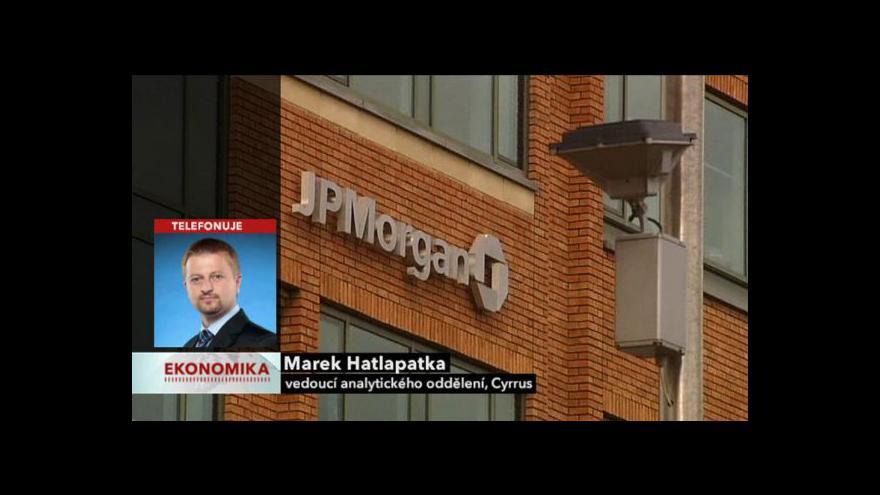 Video Ekonomika ČT24: Rozhovor s Markem Hatlapatkou