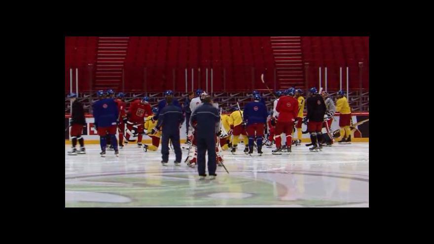 Video Čtvrteční trénink českého týmu