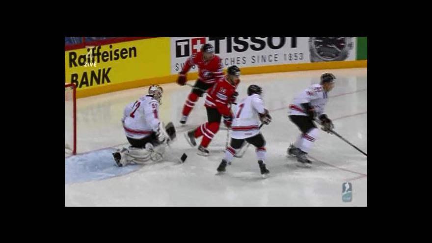Video Sestřih utkání Kanada - Švýcarsko