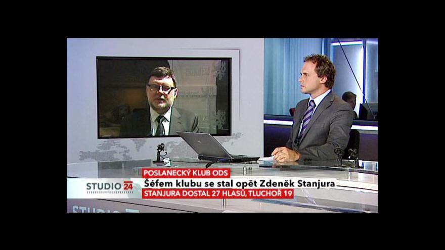 Video Zbyněk Stanjura hostem Studia ČT24