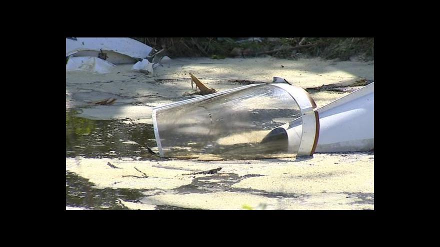 Video U Hosína havarovalo motorové letadlo