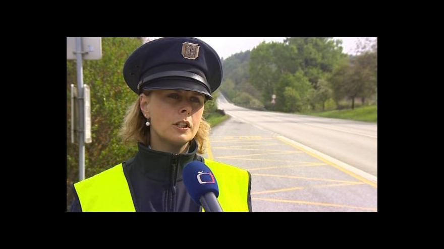Video Policejní mluvčí Iva Šebková o omezení rychlosti u Závisti