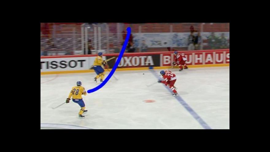 Video České přesilovky proti Švédsku