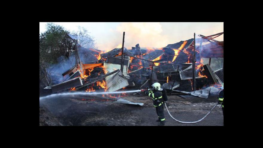 Video Mluvčí hasičů Ivo Mitáček o požáru haly