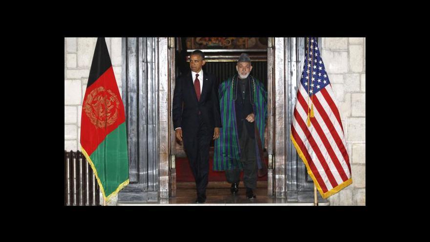 Video Obama nečekaně navštívil Afghánistán