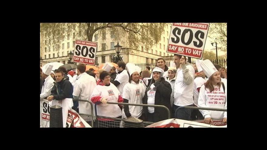 Video Londýnští pekaři protestují