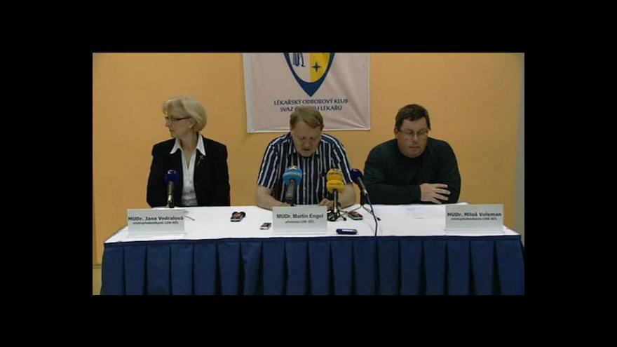Video Brífink lékařských odborů