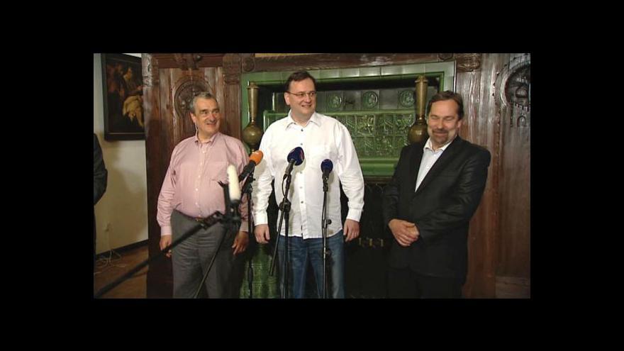 Video Události k jednání koaličních lídrů