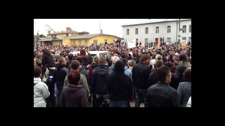 Video Nedělní protiromská demonstrace v Břeclavi