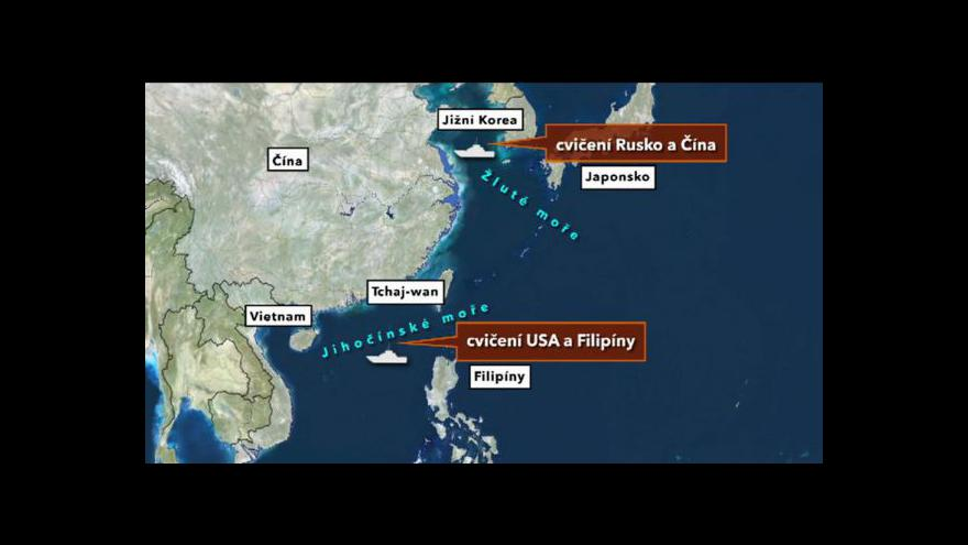 Video Rusko a Čína zahájily společné manévry