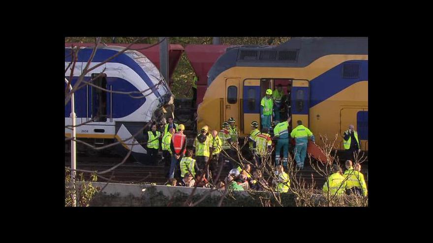 Video Železniční nehoda v Amsterdamu
