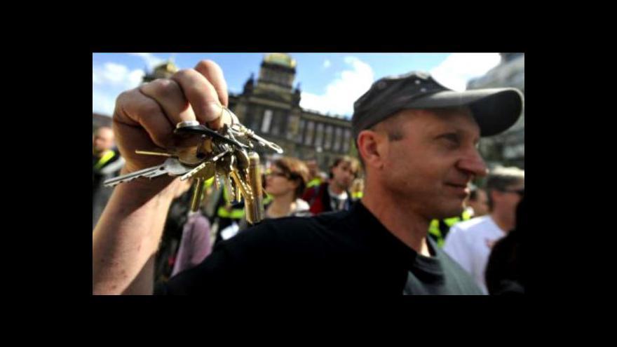 Video Události o protivládní demonstraci 21. dubna 2012