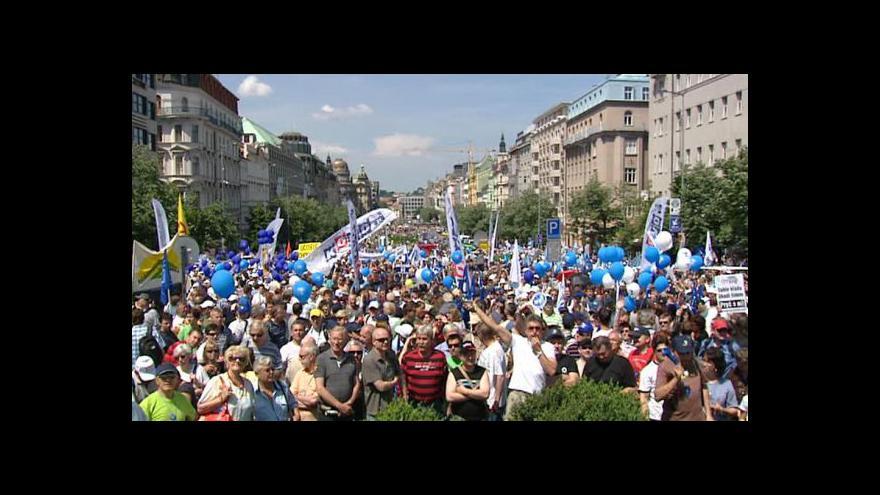 Video Odbory se sjely do Prahy