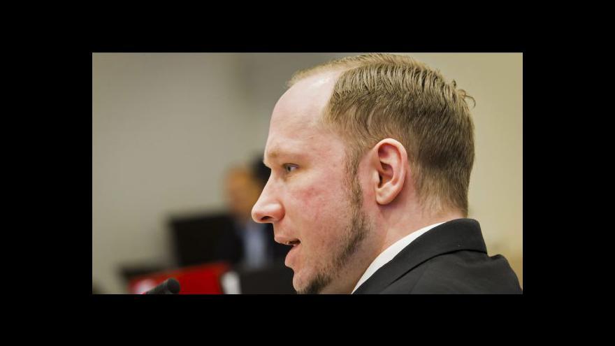 Video Soudní proces s Breivikem - den čtvrtý
