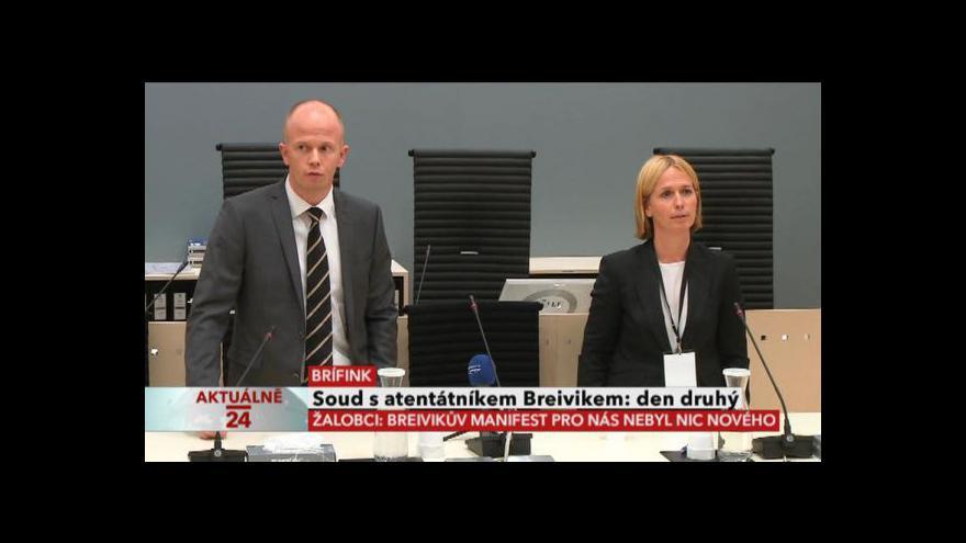 Video TK po skončení druhého dne procesu s Breivikem