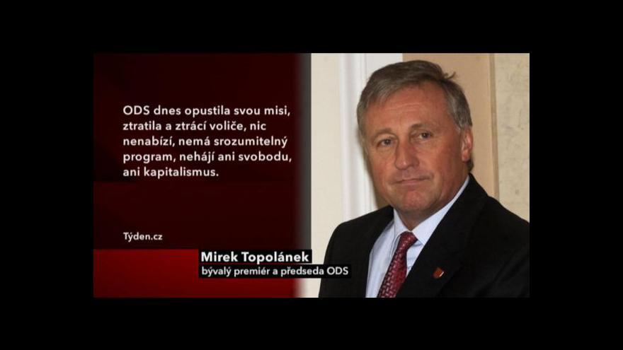 Video Topolánek burcuje ODS