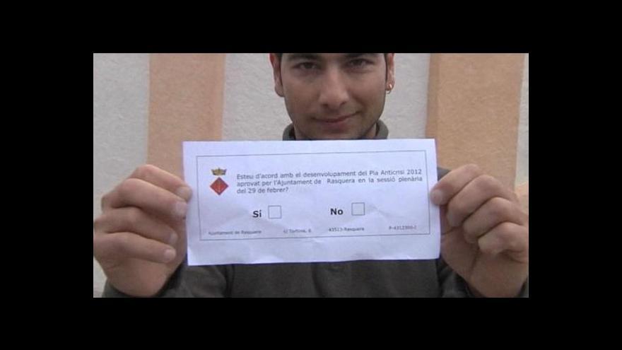Video Rasquera - referendum o pěstování konopí