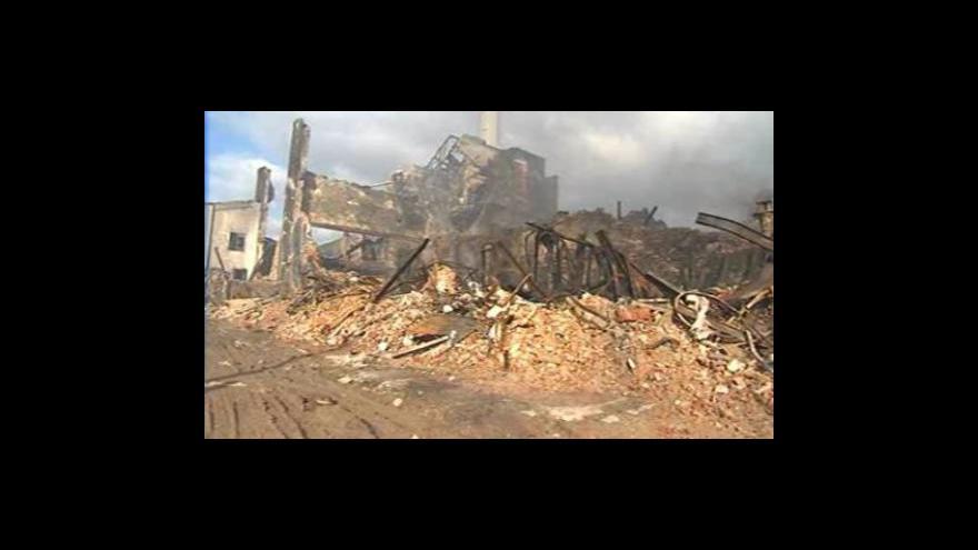 Video Chropyně po požáru - záběry ze středy 13.4.2011
