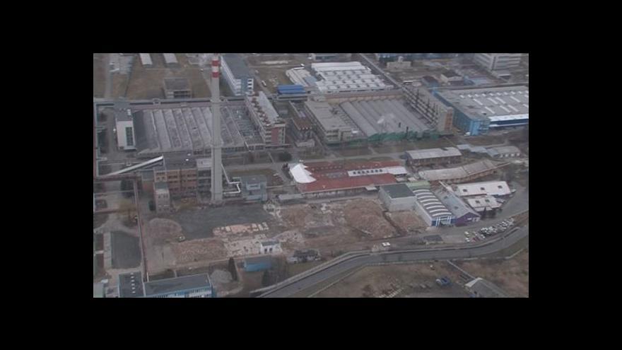 Video Letecké záběry továrny, která lehla popelem