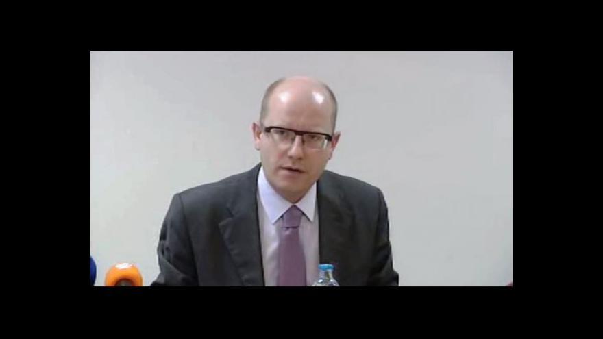 Video Reakce Bohuslava Sobotky na závěry grémia ODS k vládní krizi