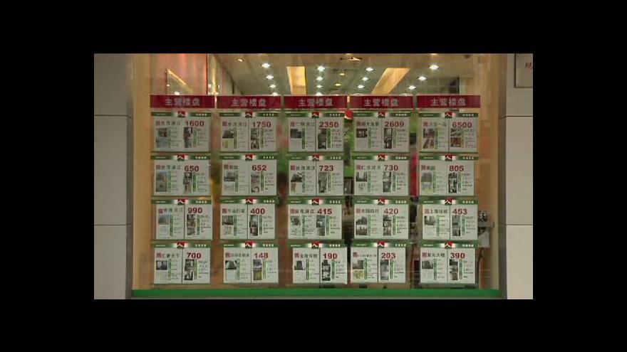 Video Ekonomika ČT24: Ceny realit v Číně padají