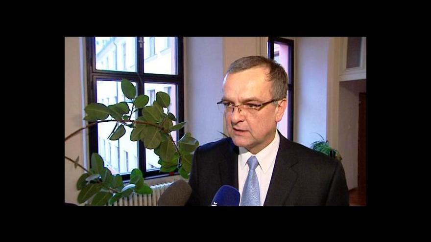 Video Reakce Miroslava Kalouska na oznámení VV