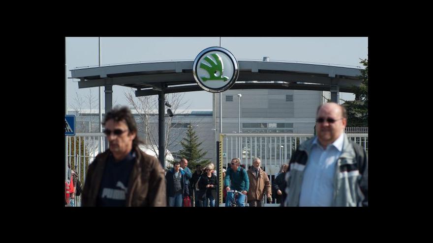Video Škoda Auto před stávkou