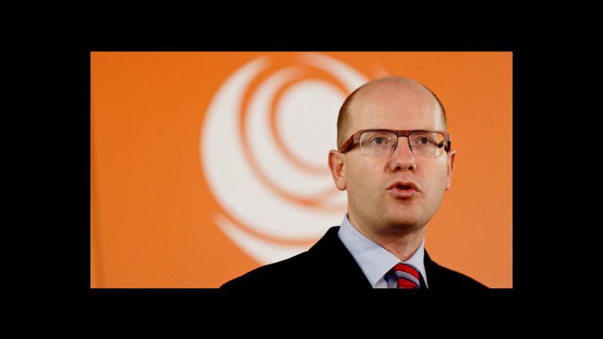 Video Brífink ČSSD k financování VV a BIS