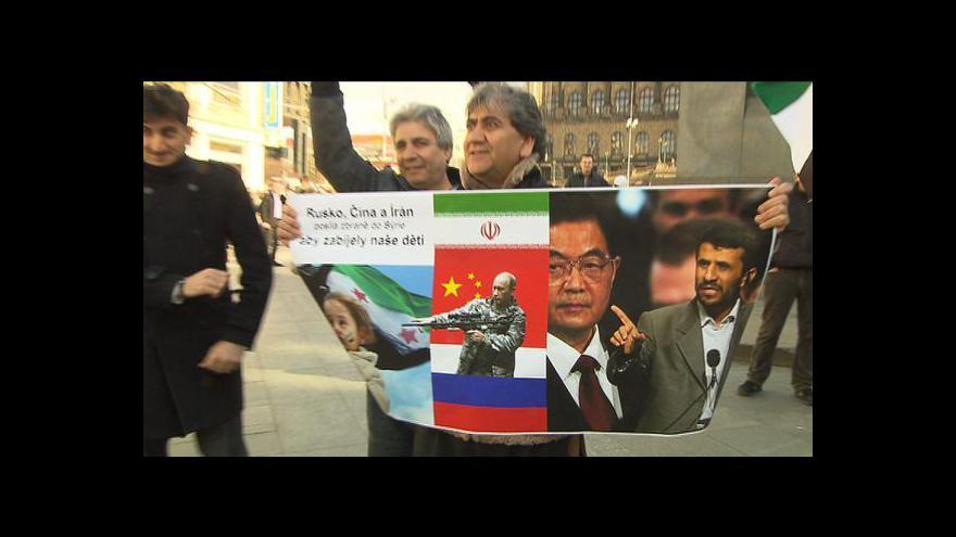 Video V Praze se protestovalo proti násilí v Sýrii