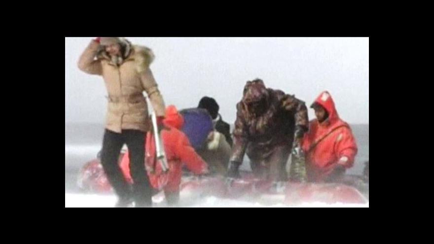 Video Rybáře u Sachalinu odnesla kra