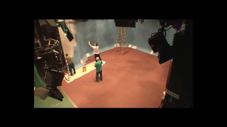 Video Časosběr - přestavba zpravodajského studia
