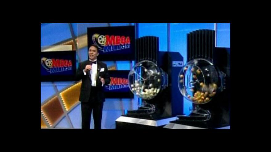 Video Padl rekordní jackopot v loterii Mega Millions