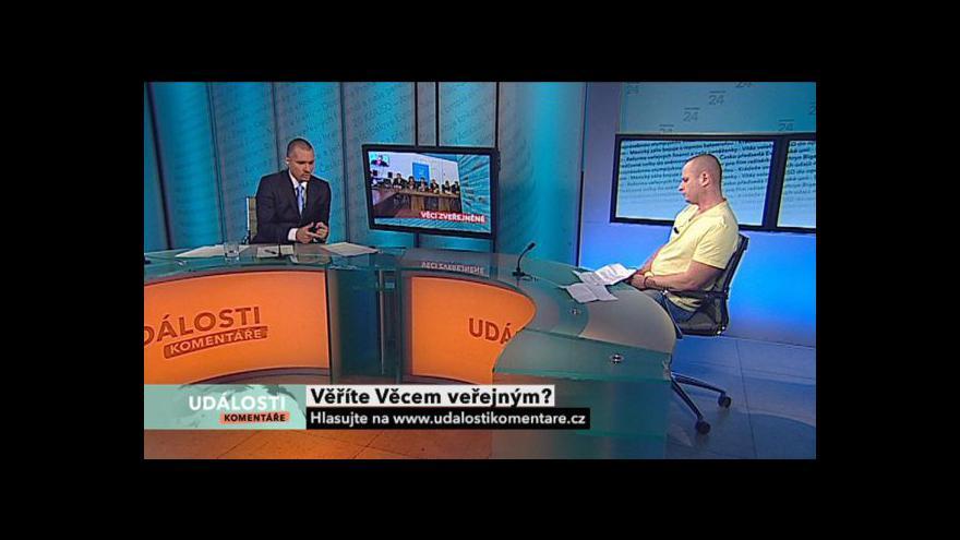 Video Tomáš Jarolím a Zbyněk Stanjura hosty Událostí, komentářů