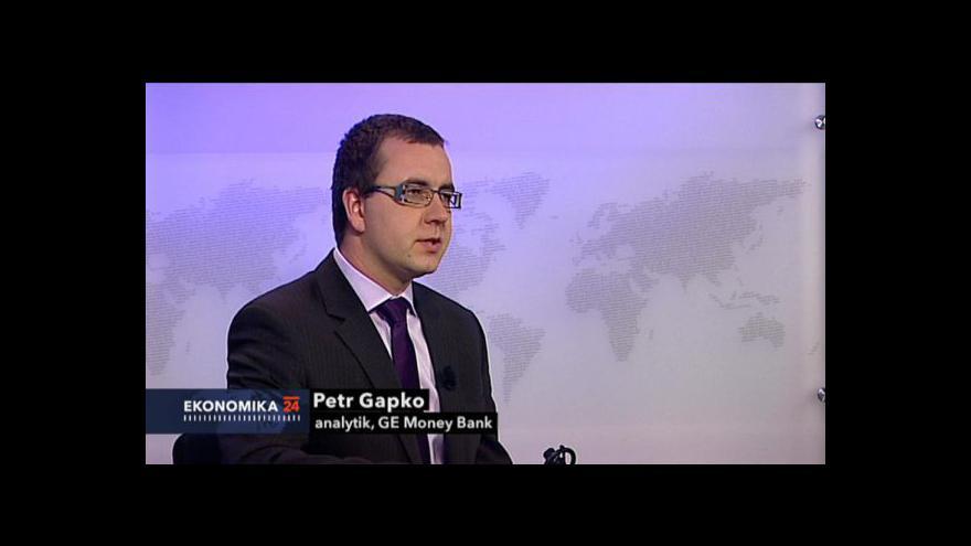 Video Ekonomika ČT24: Rozhovor s analytikem Petrem Gapkem