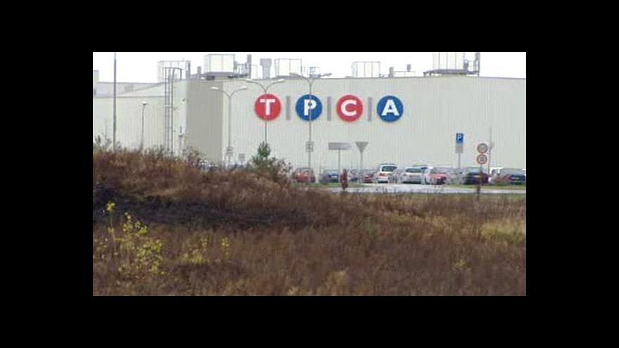 Video Hospodaření TPCA tématem Ekonomiky ČT24