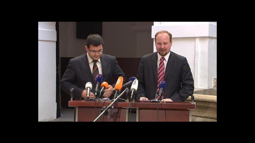 Video TK ČSSD po jednání vlády