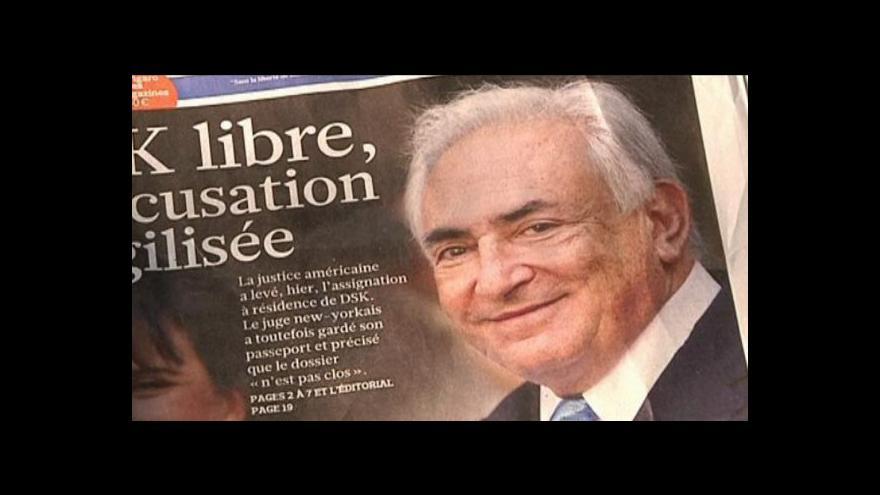 Video Strauss-Kahn obviněn z napomáhání kuplířství