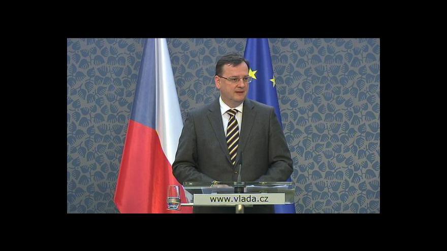 Video Brífink Petra Nečase k jednání ekonomických ministrů