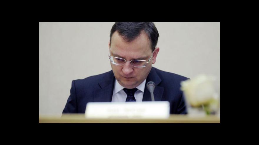 Video Projev Petra Nečase o ekonomické situaci Česka