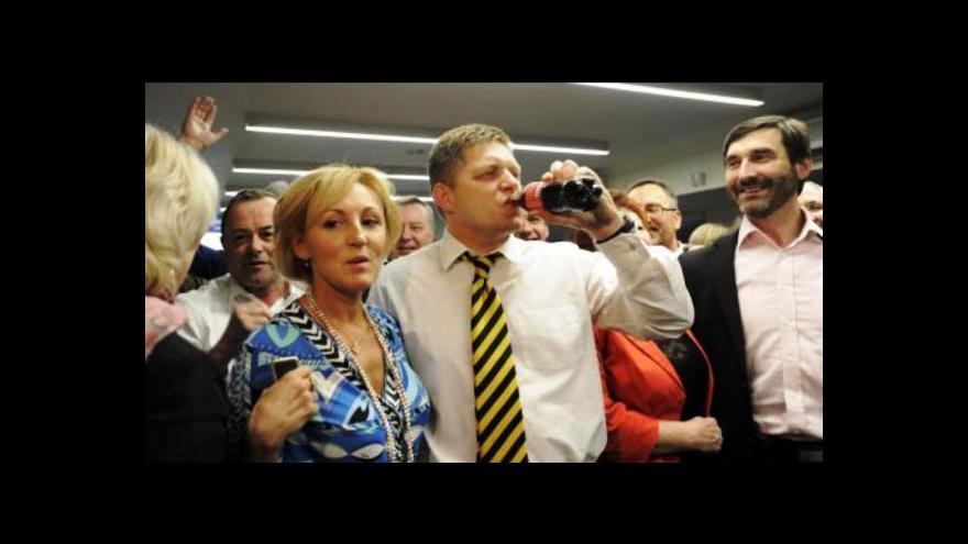 Video Události: Robert Fico drtivě zvítězil na Slovensku