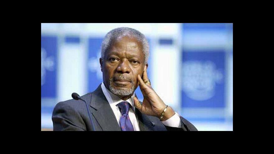 Video Kofi Annan jednal v Damašku s prezidentem Asadem