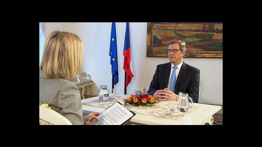 Video Guido Westerwelle pro Českou televizi