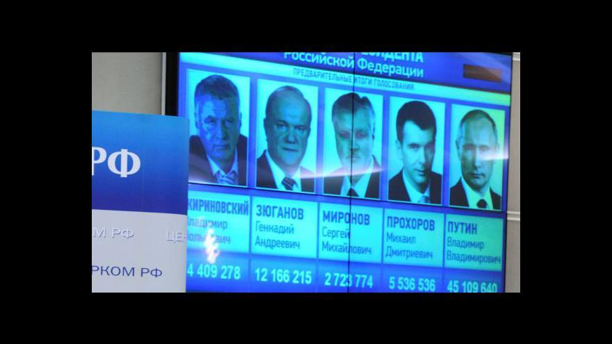 Video Dopolední studia k prezidentským volbám v Rusku