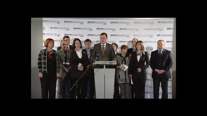 Video Brífink ODS po ideové konferenci