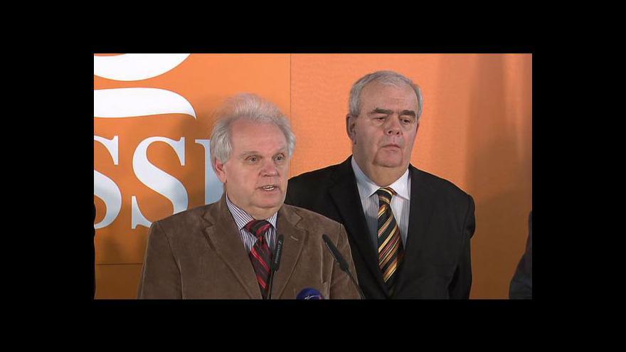 Video Brífink po jednání ČSSD se zástupci důchodců
