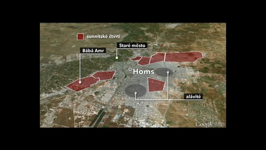 Video Červený kříž se nedostal do čtvrti v Homsu